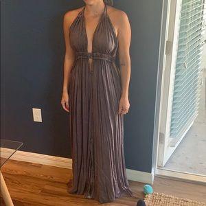 Mauve sexy maxi dress